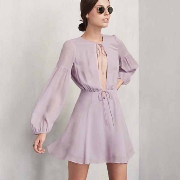 Reformation Dresses & Skirts - NEW Reformation Bella Dress - Hydrangea Size 4